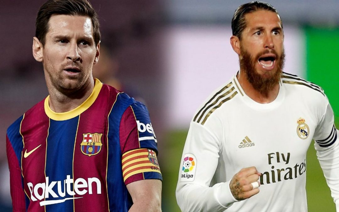 alineaciones del Barcelona y Real Madrid