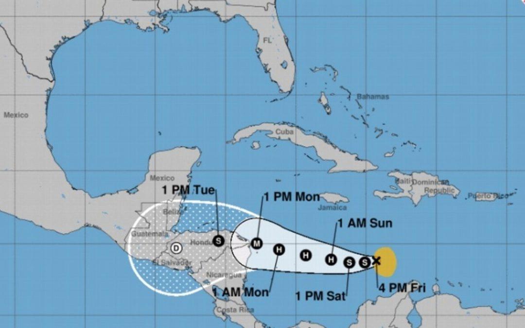 Actualización tormenta tropical IOTA potencial huracán