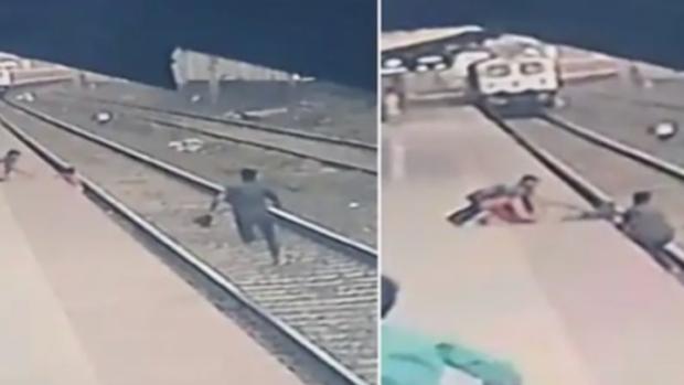 Niño que cae a las vías del tren acompañado de su madre ciega fue salvado