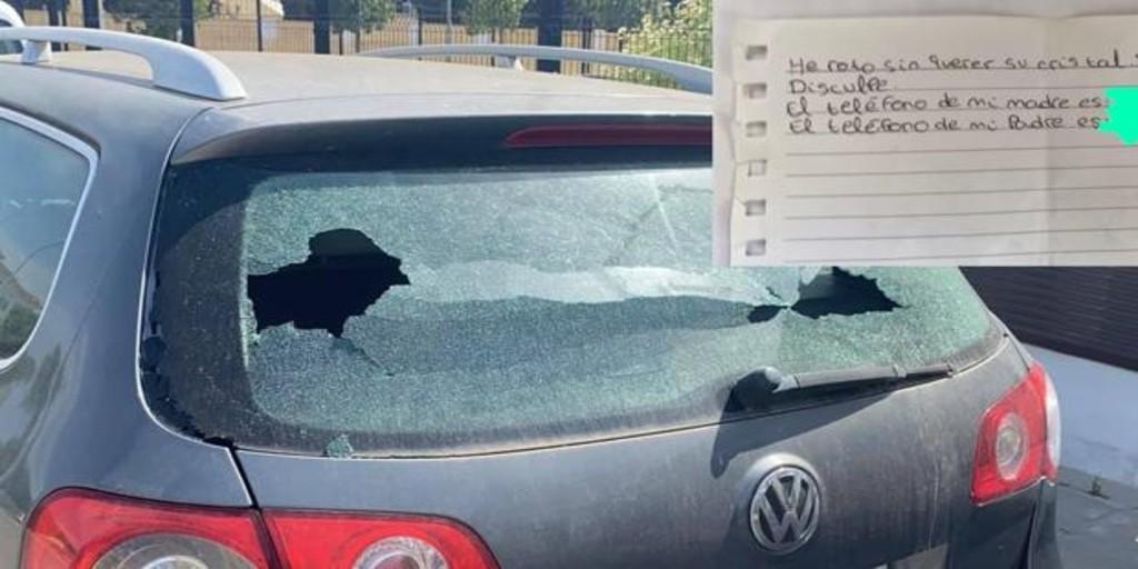 La nota viral de un niño tras romper el vidrio de un carro