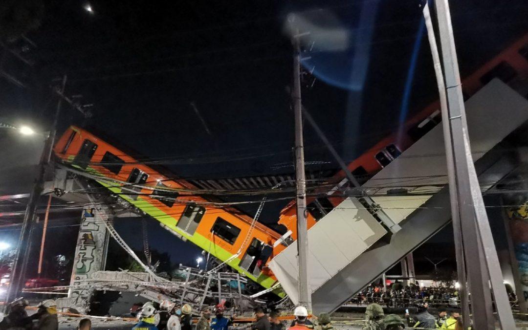 México. Este es el momento exacto en el que se desploma tren de la Línea 12 del Metro