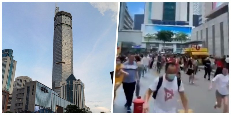 VIDEOS | Rascacielos chino se mueve sin razón y desata pánico