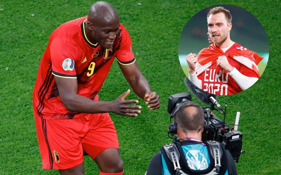 La emotiva dedicatoria de gol de Romelu Lukaku a Christian Eriksen